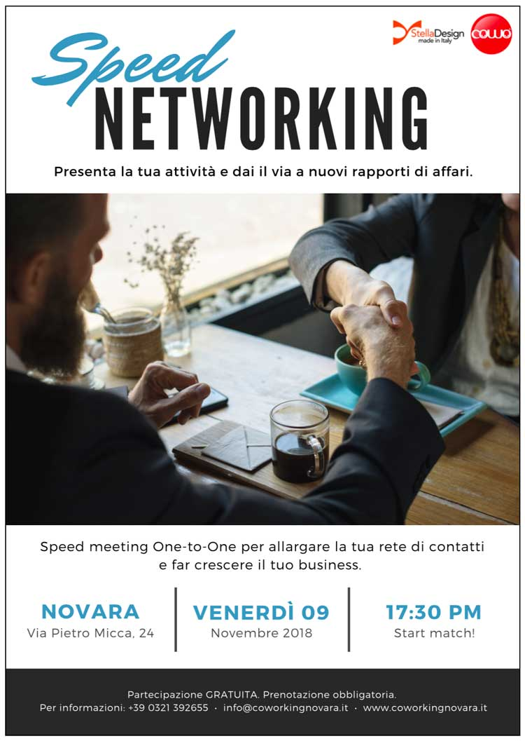 SPEED Networking al Cowo Novara